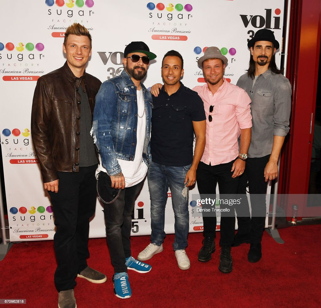 Backstreet Boys Celebrate The Grand Opening Of Sugar Factory American Brasserie In Las Vegas : News Photo