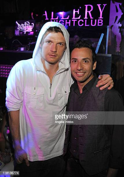Singers Nick Carter and Howie Dorough of Backstreet Boys host official afterconcert party at Gallery Nightclub on July 3 2011 in Las Vegas Nevada