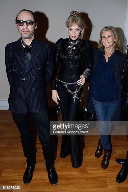 Singers Nicolas Ker Arielle Dombasle and Journalist Claire Chazal attend Arielle Dombasle and Nicolas Ker perform for the release of the Album 'La...