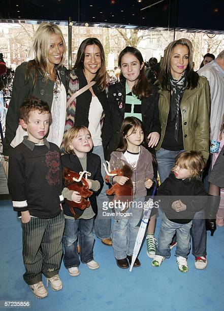 Singers Nicole Appleton Melanie Blatt and Natalie Appleton with Natalie's daughter Rachel and Liam Gallagher's sons Lennon and Gene Appleton...