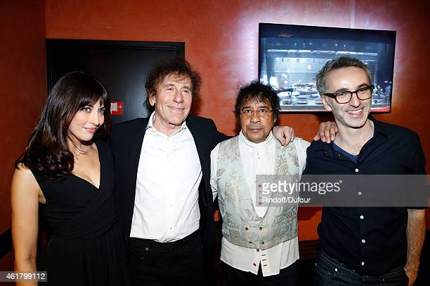Singers Nolwenn Leroy Alain Souchon Laurent Voulzy and Vincent Delerm attend the '10th Charity Gala Against Alzheimer's Disease Two Generations sing...