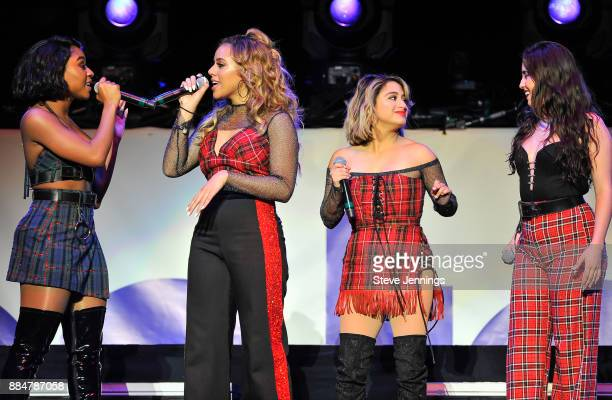 Singers Normani Kordei Dinah Jane Ally Brooks and Lauren Jauregui of Fifth Harmony perform at 997 NOW Presents POPTOPIA at SAP Center on December 2...