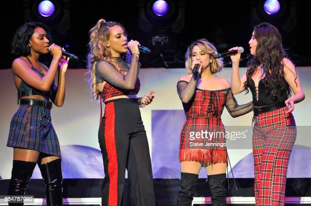 Singers Normani Kordeo Dinah Jane Ally Brooks and Lauren Jauregui of Fifth Harmony perform at 997 NOW Presents POPTOPIA at SAP Center on December 2...