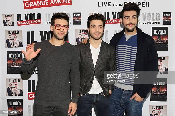 Singers of Italian opera pop Il Volo Piero Barone Gianluca Ginoble and Ignazio Boschetto launch their new album Grande Amore at W Hotel on December 7...