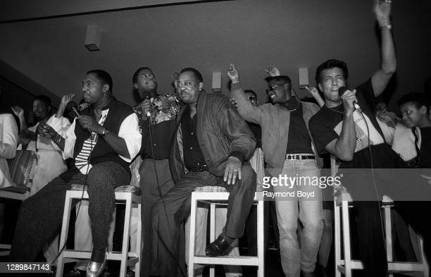 Singers Otis Williams, Melvin Franklin and Richard Street of The Temptations , singer Gerald Alston, formerly of The Manhattans, singer Johnny Gill...