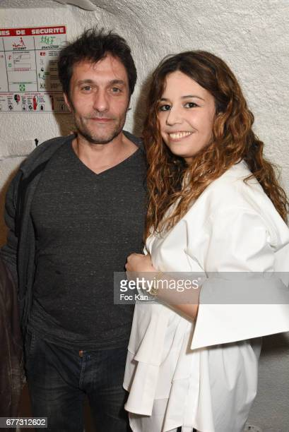 Singers Pablo Villafranca and ChanezÊattend 'Attachiante' Chanez Concert and Birthday Party at Sentier des Halles Club on May 2 2017 in Paris France