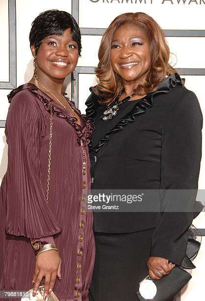 Singers Paris Bennett and Ann Nesby arrive to the 50th Annual GRAMMY Awards at the Staples Center on February 10 2008 in Los Angeles California