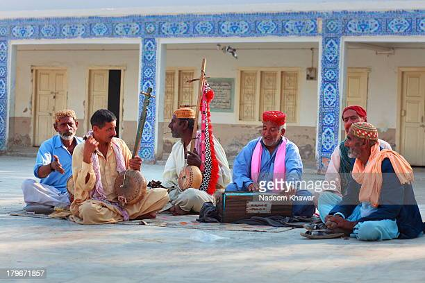 singer's party at sachal sarmast - sind stock photos and pictures