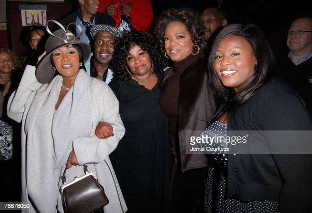 Singers Patti Labelle BeBe Winans Chaka Khan and LaKisha Jones join Oprah Winfrey at the Cast Change Celebration for New cast members joining the...