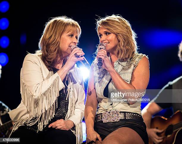 Singers Patty Loveless and Miranda Lambert perform onstage at the ACM Presents Superstar Duets at Globe Life Park in Arlington on April 18 2015 in...