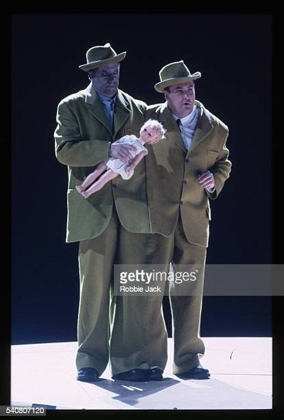singers perform in das rheingold - royal opera house london stock pictures, royalty-free photos & images