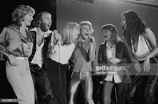 Singers performing at the NARM convention and award ceremony at the Diplomat Hotel in Hollywood Florida March 1979 Left to right Yvonne Spenceley...