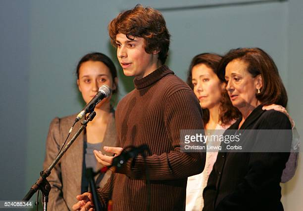 Singers politicians and journalists who were hostage in Iraq attend a gala to show their support for FrancoColombian politician Ingrid Betancourt who...