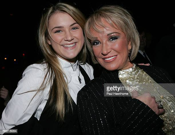 Singers Presley Tucker and Tanya Tucker attend the Manuel Fall 2006 fashion show at Bryant Park during Olympus Fashion Week on February 10 2006 in...