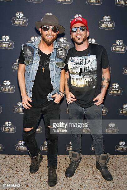 Singers Preston Brust and Chris Lucas of LOCASH attend the 2016 Daytime Village at the iHeartCountry Festival at The Frank Erwin Center on April 30...