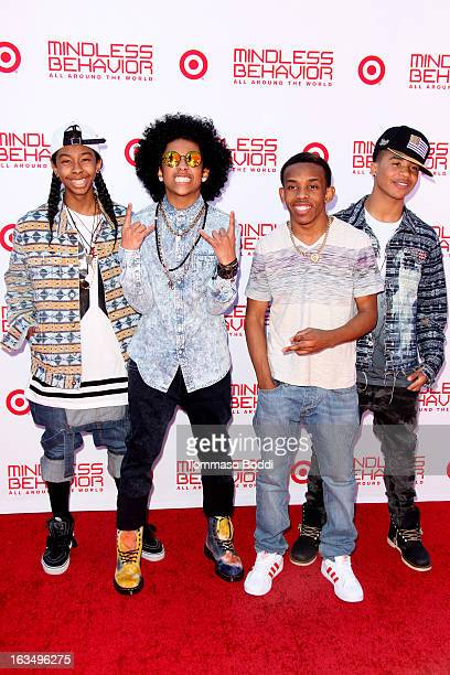 Singers RayRay Princeton Prodigy and Roc Royal of Mindless Behavior attend the Mindless Behavior All Around The World premiere held at the AMC...