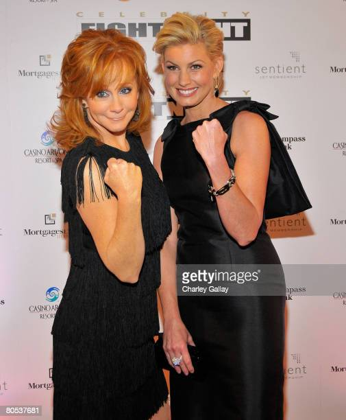 Singers Reba McEntire and Faith Hill arrive to Muhammad Ali's Celebrity Fight Night XIV at the JW Marriott Desert Ridge Resort Spa April 5 2008 in...