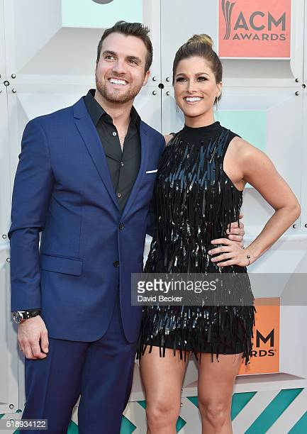 Singers Rian Dawson and Cassadee Pope attend the 51st Academy of Country Music Awards at MGM Grand Garden Arena on April 3 2016 in Las Vegas Nevada