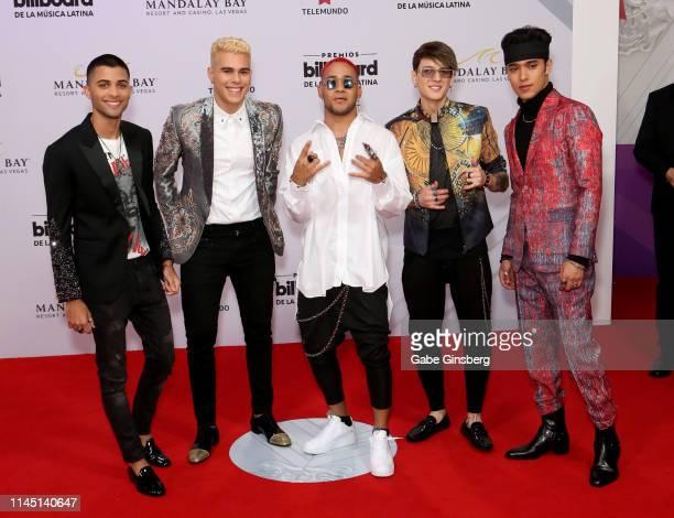 Singers Richard Camacho Joel Pimentel Erick Brian Colon Christopher Velez and Zabdiel De Jesus of CNCO attend the 2019 Billboard Latin Music Awards...