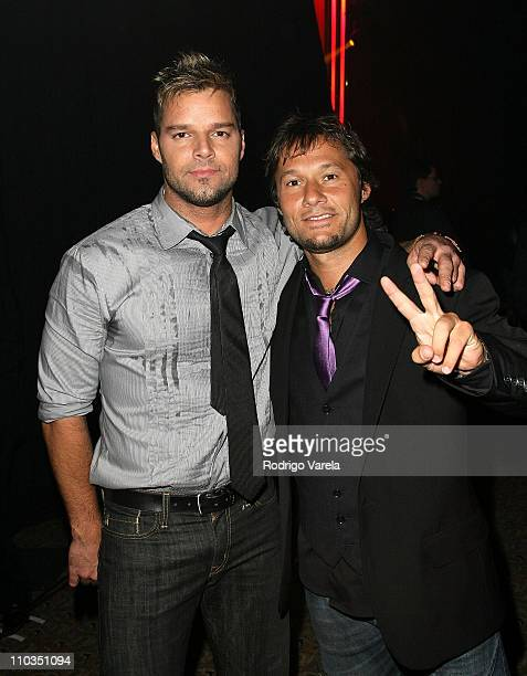 Singers Ricky Martin and Diego Torres inside the 8th Annual Latin GRAMMY Awards Person of the Year celebration at Mandalay Bay on November 7 2007 in...