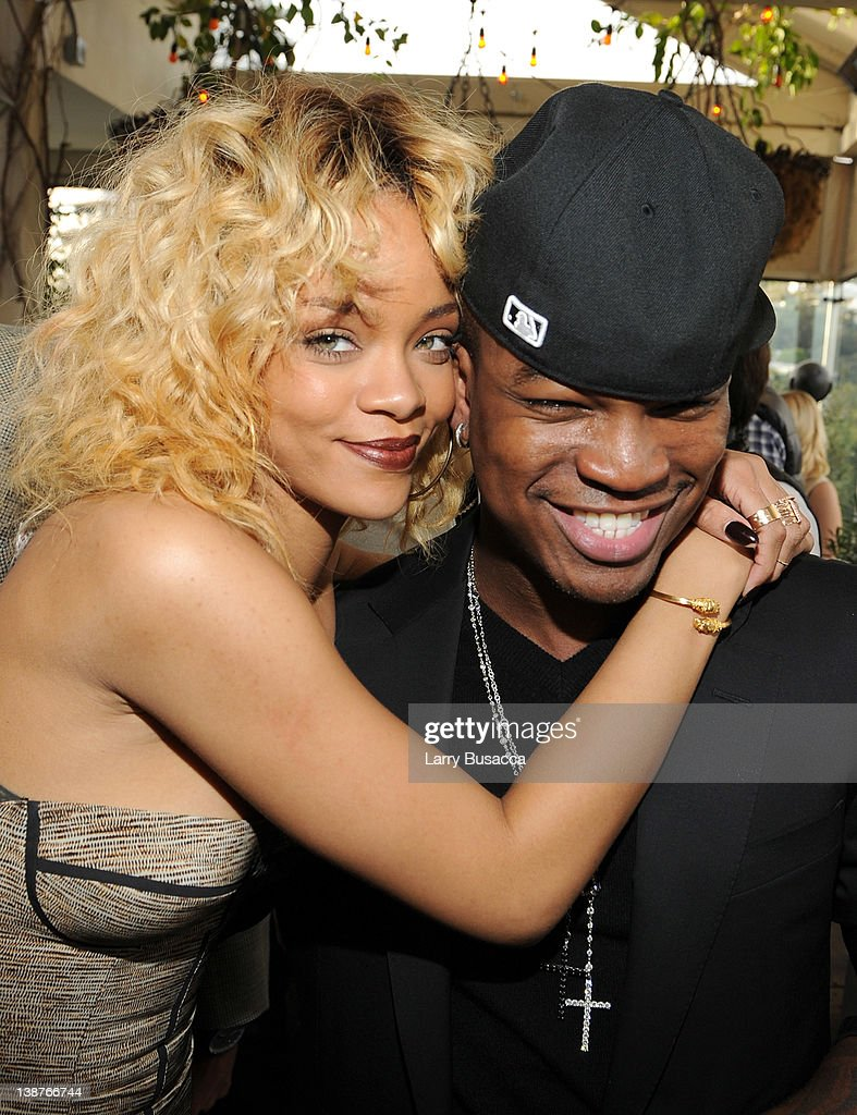 Singers Rihanna (L) and Ne-Yo attend the 4th Annual Roc Nation Pre-GRAMMY Brunch at Soho House on February 11, 2012 in West Hollywood, California.