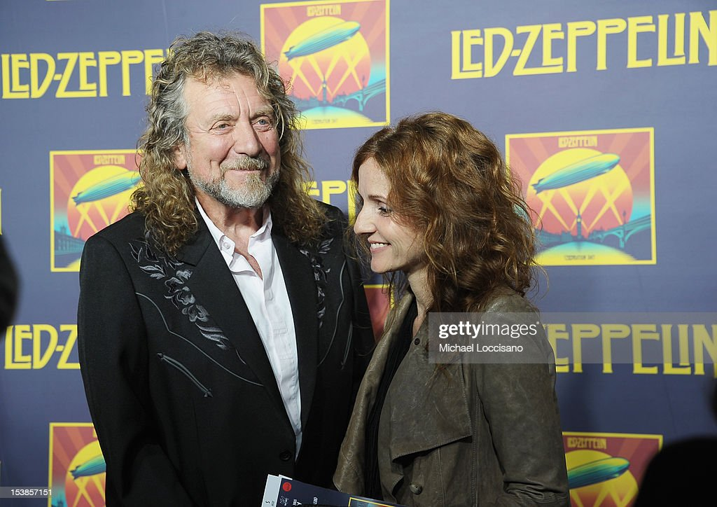 Singers Robert Plant and Patty Griffin attend the 'Led Zeppelin: Celebration Day' premiere at the Ziegfeld Theater on October 9, 2012 in New York City.