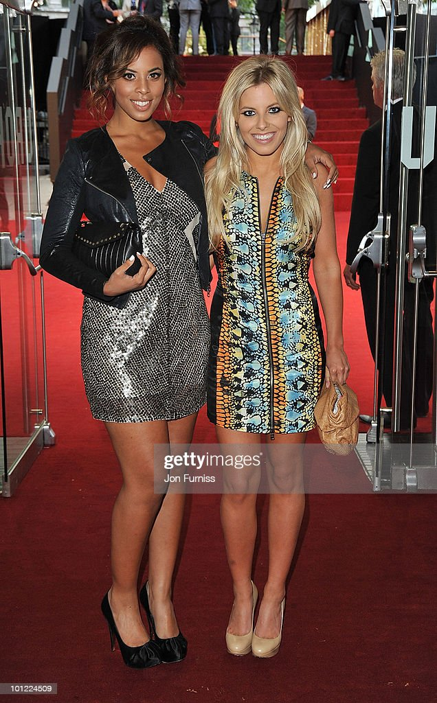 Singers Rochelle Wiseman (L) and Mollie King attend the UK premiere of Sex And The City 2 at Odeon Leicester Square on May 27, 2010 in London, England.