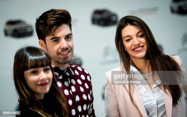 Singers Roi Ana Guerra and Aitana present New SUV compacto Citroen C3 Aircross on March 23 2018 in Madrid Spain