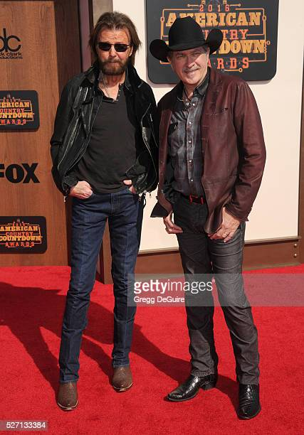 Singers Ronnie Dunn and Kix Brooks of Brooks Dunn arrive at the 2016 American Country Countdown Awards at The Forum on May 1 2016 in Inglewood...