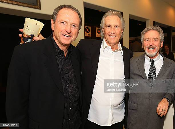 Singers Rudy Gatlin Bill Medley and Larry Gatlin attend a memorial service for entertainer Andy Williams on October 21 2012 in Branson Missouri...
