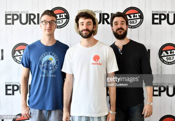 Singers Ryan Met Jack Met and Adam Met of the band AJR attend the ALT 987 Summer Camp Concert at Queen Mary Events Park on August 12 2018 in Long...