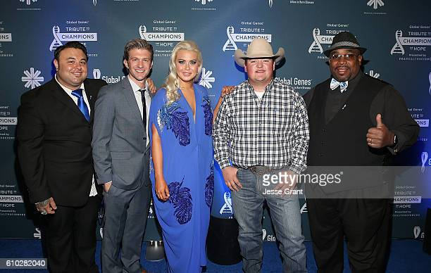 Singers Ryan Whyte Maloney Jake Barker Cali Tucker Jake Worthington and Biff Gore attend the Global Genes Tribute to Champions of Hope 2016 on...