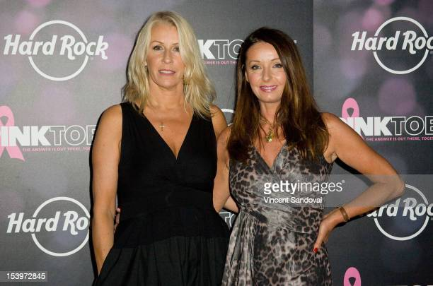 """Singers Sara Dallin and Keren Woodward from the band Bananarama attend Hard Rock Cafe's 13th Annual """"PINKTOBER"""" Breast Cancer Awareness Campaign..."""