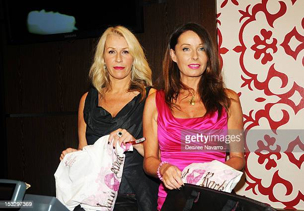 Singers Sara Dallin and Keren Woodward from the band Bananarama attend the 2012 PINKTOBER launch event at Hard Rock Cafe, Times Square on October 2,...