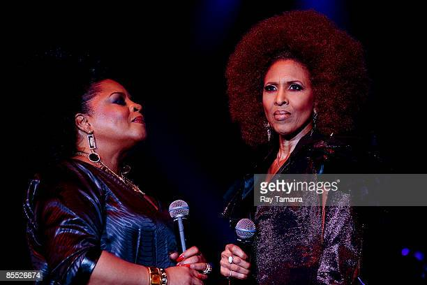 Singers Sarah Dash and Nona Hendryx of Labelle perform at the 25th annual Communication Awards dinner at the Marriott Wardman Park Hotel on March 19...
