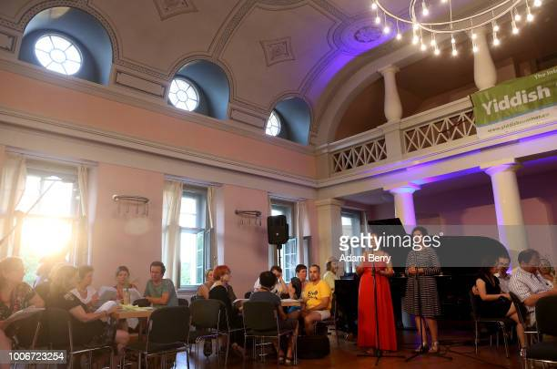 Singers Sasha Lurje and Svetlana Kundish perform during Yiddish Summer Weimar on July 27 2018 in Weimar Germany The annual fiveweek summer institute...