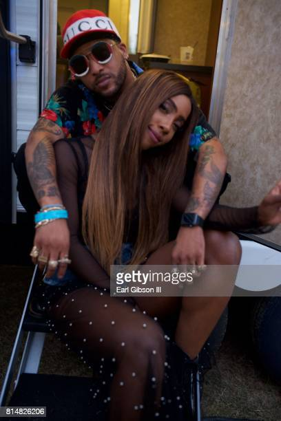 Singers Sevyn Streeter and Ro James pose for a photo at the Los Angeles Soul Music at Exposition Park on July 14 2017 in Los Angeles California
