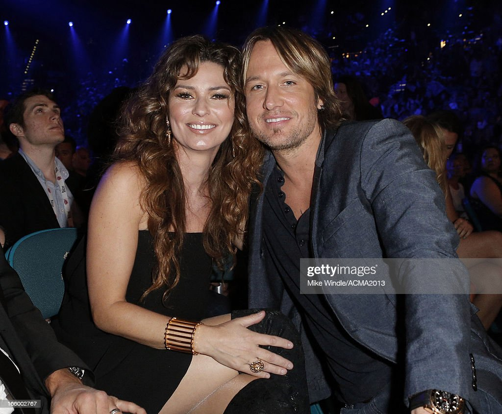 Singers Shania Twain and Keith Urban attend the 48th Annual Academy of Country Music Awards at the MGM Grand Garden Arena on April 7, 2013 in Las Vegas, Nevada.