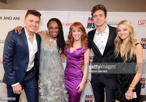 Singers Shawn Hook and Siedah Garrett Comedian Kathy Griffin Singer Trevis Brendmoe and Actor Olivia Keegan attend the 24th Annual Race To Erase MS...