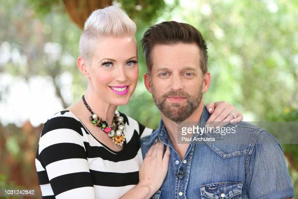 Singers Shawna Thompson and Keifer Thompson of the Country Music duo Thompson Square visit Hallmark's Home Family at Universal Studios Hollywood on...