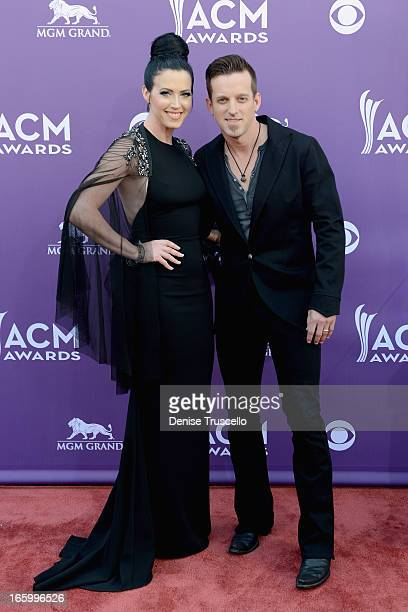 Singers Shawna Thompson and Keifer Thompson of Thompson Square arrive at the 48th Annual Academy of Country Music Awards at the MGM Grand Garden...