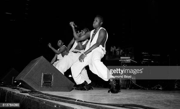 Shazam Dino and GI from HTown performs at the International Amphitheatre in Chicago Illinois in 1993