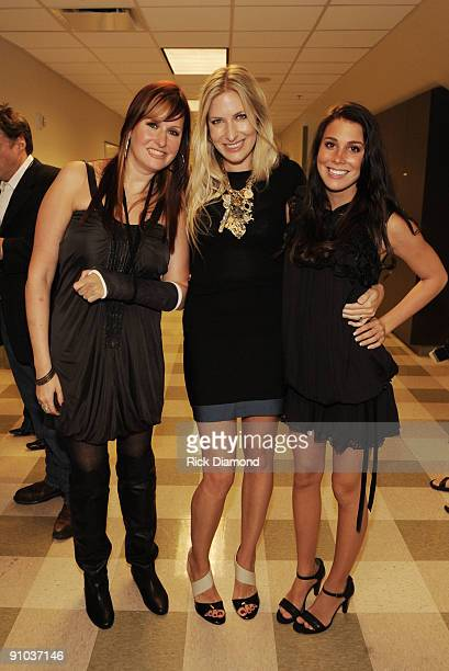Singers Songwriters Hank Williams Jr Daughter Hilary Williams Holly Williams and Katie Williams backstage during the second annual ACM Honors at...