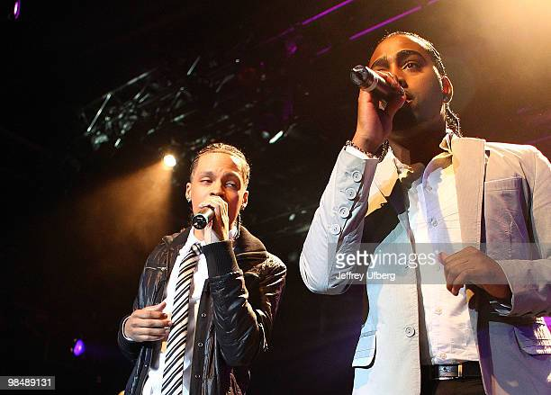 Singers Steven Steve Styles Tejada and Danny Danny D Meija of Xtreme perform during Telemundo's Latin Billboard Concert Series>> at the Nokia Theatre...