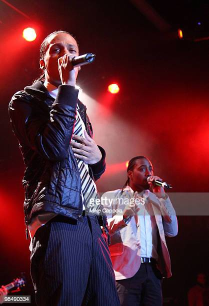 Singers Steven Tejada and Danny Mejia of the music group Xtreme performs at Nokia Theatre on April 15 2010 in New York New York