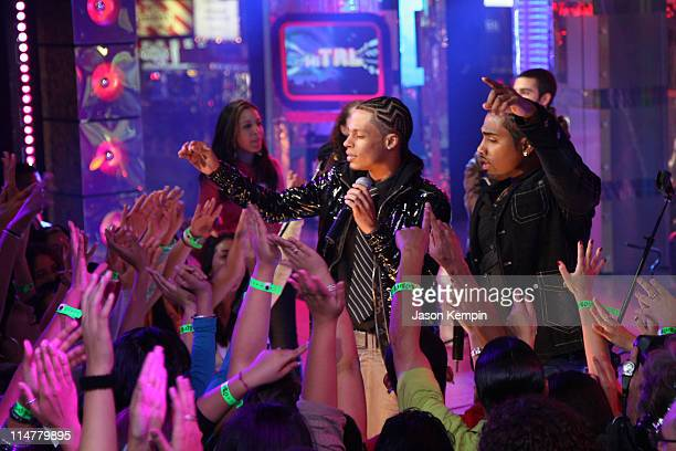 Singers Steven Tejada and Danny Mejia of Xtreme perform during MTV's Mi TRL at MTV studios on November 4 2008 in New York City
