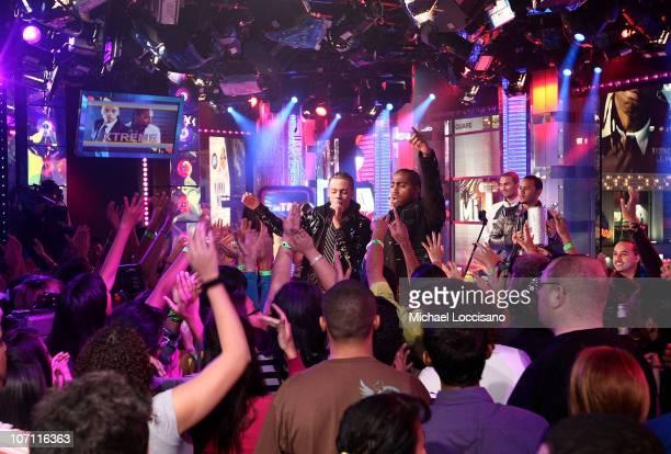 Singers Steven Tejada and Danny Mejia of Xtreme visit MTV's Mi TRL at MTV studios in Times Square on November 4 2008 in New York City