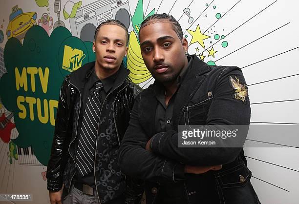 Singers Steven Tejada and Danny Mejia of Xtreme visit MTV's Mi TRL at MTV studios on November 4 2008 in New York City