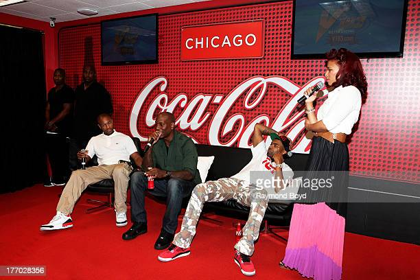Singers Tank Tyrese and Ginuwine of the group TGT is interviewed by onair personality Consuella Connie Williams in the V103FM CocaCola Lounge in...