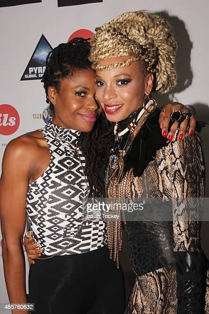 Singers Tash Lorayne and AMMOYE attend The Single Launch Celebration for hit reggae artist AMMOYE at Remix Lounge on September 19 2014 in Toronto...
